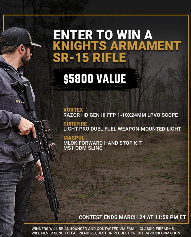 Contest - Win A Knights Armament SR-15 Rifle w/ Vortex Razor HD Gen III Scope
