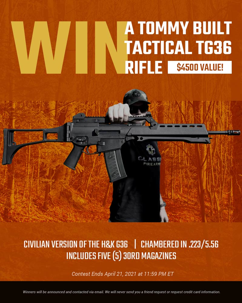 Contest - Win A Tommy Built Tactical TG36 Rifle